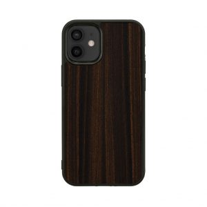【iPhone 12 mini / 11 Pro ケース】Man&Wood Ebony【天然木ケース】