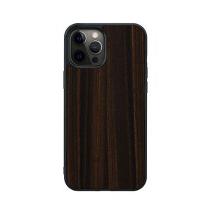 【iPhone 12 Pro Max / 11 Pro Max ケース】Man&Wood Ebony【天然木ケース】