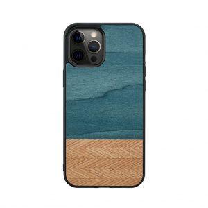 【iPhone 12 Pro Max / 11 Pro Max ケース】Man&Wood Denim【天然木ケース】