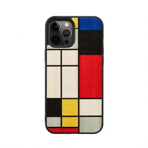 【iPhone 12 Pro Max / 11 Pro Max ケース】Man&Wood Mondrian Wood【天然木ケース】