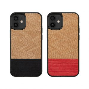 【iPhone 12 mini ケース】Man&Wood Herringbone【天然木ケース】