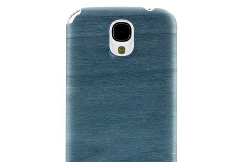 【GALAXY S4 SC-04E docomo】 Vivid Bolivar blue(ボリバーブルー)ホワイトフレーム 天然木 I2194S4