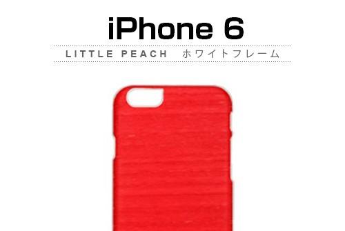 【iPhone6s/6】 天然木 Man&Wood Little peach (マンアンドウッド リトルピーチ)アイフォン