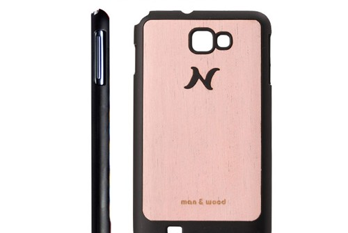 【Galaxy Note】 天然木 Man&Wood wood-fit Amapa Pink I1239GNT