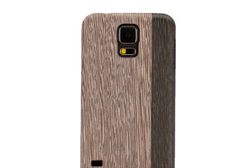 【GALAXY S5】 天然木 Real wood case Harmony Lattis (リアルウッドケース ハーモニー ラティス) ブラックフレーム