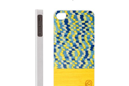 【iPhone SE/5/5s】 Man&Wood Real wood case Harmony Yellow Submarine(マンアンドウッド イエローサブマリン)アイフォン 天然木