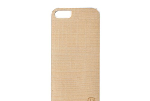 【iPhone SE/5/5s】 Man&Wood Real wood case Genuine Sand beach(マンアンドウッド サンドビーチ)アイフォン 天然木