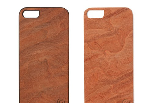 【iPhone SE/5/5s】 Man&Wood Real wood case Genuine Magma(マンアンドウッド マグマ)アイフォン 天然木