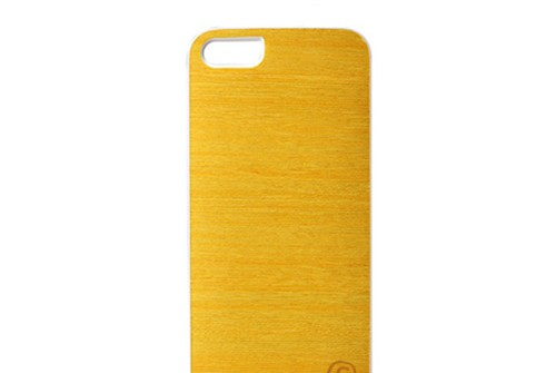 【iPhone SE/5/5s】 Man&Wood Real wood case Vivid Lemon Tree