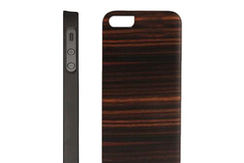 【iPhone SE/5/5s】 Man&Wood Real wood case Genuine Ebony Bar (マンアンドウッド ジェニュイン エボニーバー)アイフォン 天然木