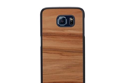 【Galaxy S6】 天然木ケース Cappuccino(テンネンモクケース カプチーノ) ギャラクシー