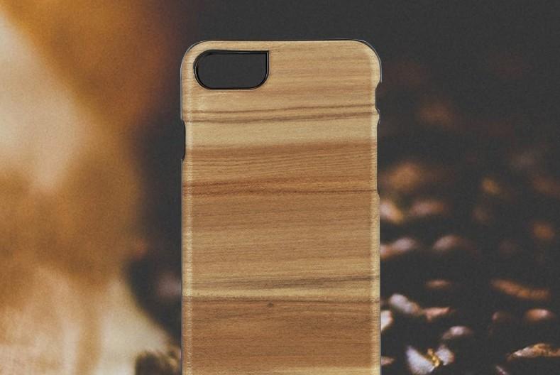【iPhone7 ケース】 天然木 Man&Wood Cappuccino(マンアンドウッド カプチーノ)アイフォン カバー 木製