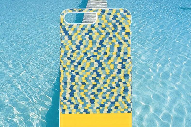 【iPhone7 Plus ケース】天然木ケース Man & Wood Yellow Submarine (マンアンドウッド イエローサブマリン)