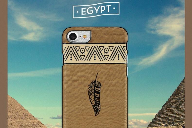 【iPhone7 ケース】天然木 Man&Wood Premium Egypt(マンアンドウッド プレミアム エジプト)アイフォン カバー 木製