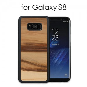 Galaxy S8 天然木ケース Cappuccino