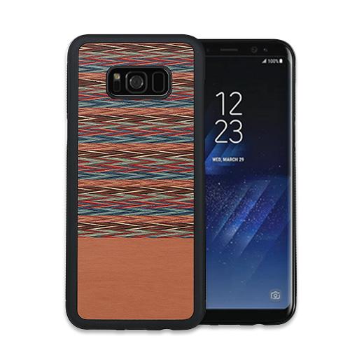 Galaxy S9 ケース Galaxy S9+ ケース Galaxy S8 ケース Galaxy S8+ ケース 天然木 Man&Wood Browny Check(マンアンドウッド ブラウニーチェック)