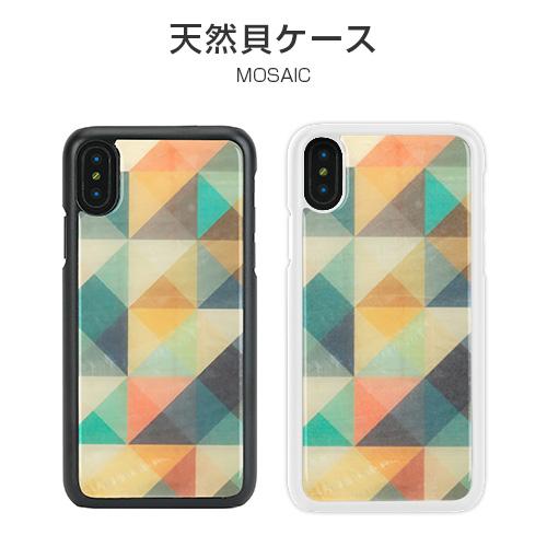 iPhone XS / X ケース 天然貝 ikins Mosaic(アイキンス モザイク)