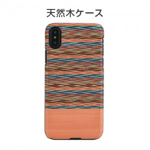 iPhone XS / X  ケース 天然木 Man&Wood Browny Check(マンアンドウッド ブラウニーチェック)