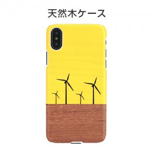 iPhone XS / X ケース 天然木 Man&Wood Yellow Wind(マンアンドウッド イエローウィンド)
