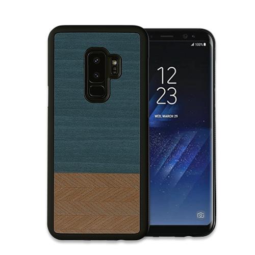 Galaxy S9 ケース Galaxy S9+ ケース 天然木 Man&Wood Denim(マンアンドウッド デニム)