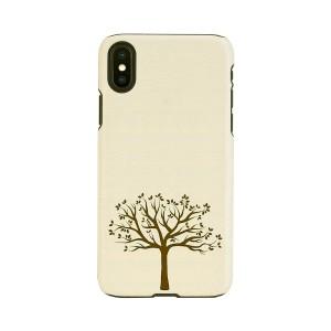 iPhone XR ケース 天然木 Man&Wood Apple tree(マンアンドウッド アップルツリー)