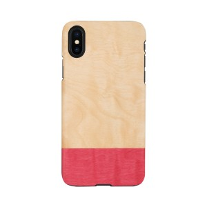 Man&Wood iPhone XR ケース 天然木 Miss match