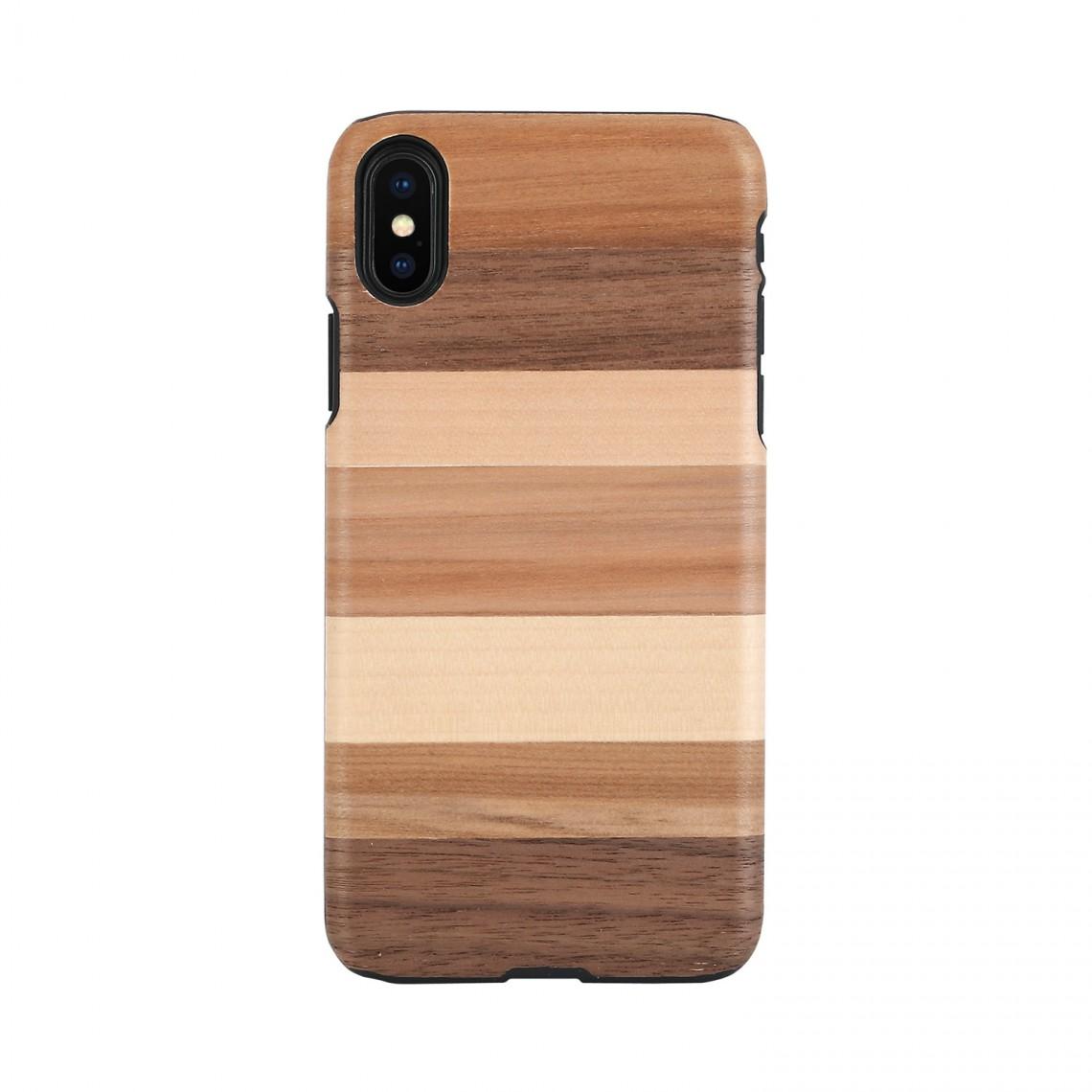 iPhone XR ケース 天然木 Man&Wood Sabbia(マンアンドウッド サッビア)