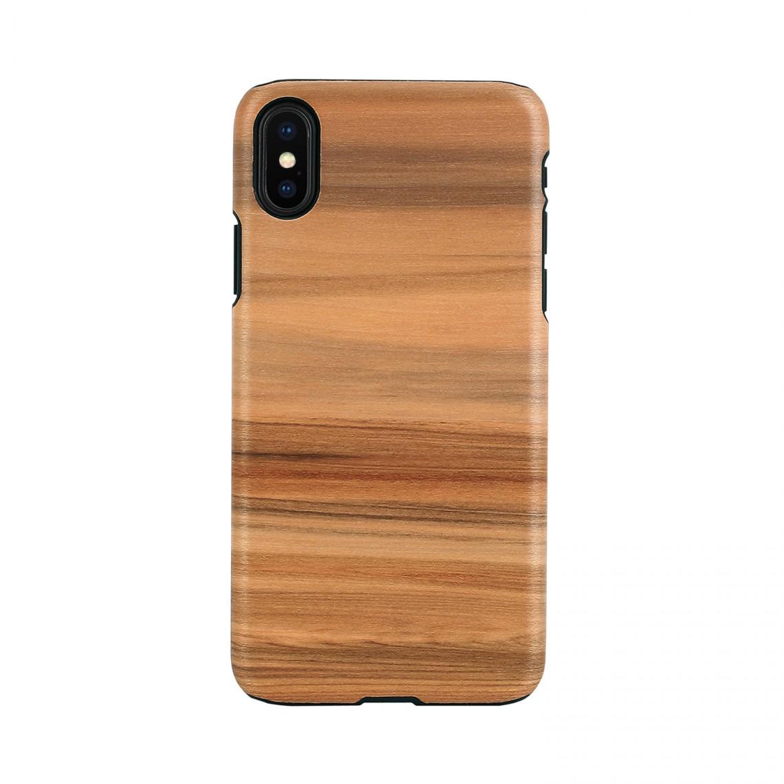 iPhone XR ケース 天然木 Man&Wood Cappuccino(マンアンドウッド カプチーノ)