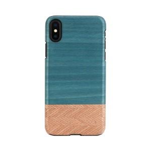 iPhone XR ケース 天然木 Man&Wood Denim(マンアンドウッド デニム)