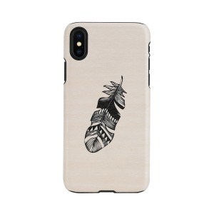 Man&Wood iPhone XR ケース 天然木 Indian