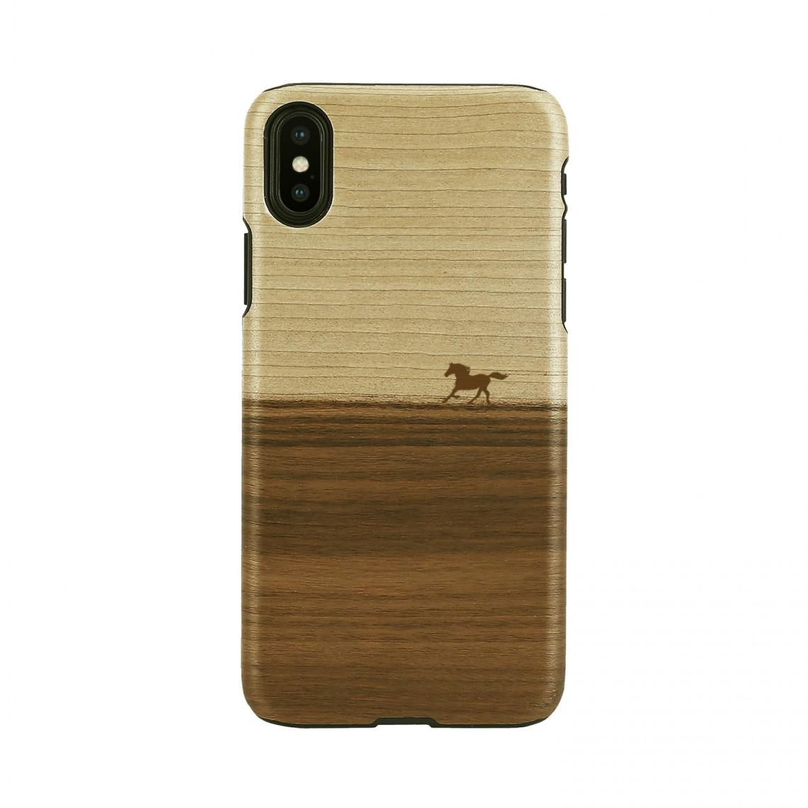iPhone XS Max ケース 天然木 Man&Wood Mustang(マンアンドウッド マスタング)