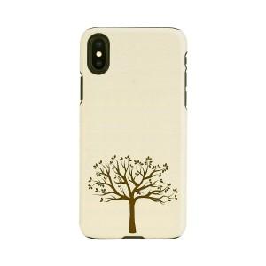 iPhone XS Max ケース 天然木 Man&Wood Apple tree(マンアンドウッド アップルツリー)