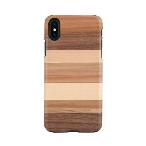 iPhone XS Max ケース 天然木 Man&Wood Sabbia(マンアンドウッド サッビア)