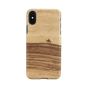 Man&Wood iPhone XS Max ケース 天然木 Terra