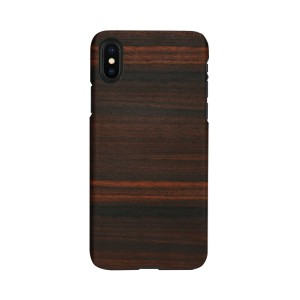 Man&Wood iPhone XS Max ケース 天然木 Ebony