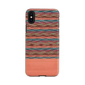 iPhone XS Max ケース 天然木 Man&Wood Browny Check(マンアンドウッド ブラウニーチェック)