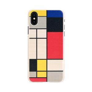 iPhone XS Max ケース 天然木 Man&Wood Mondrian Wood(マンアンドウッド モンドリアンウッド)