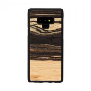 Galaxy Note9 ケース 天然木 ケース Man&Wood White Ebony(マンアンドウッド ホワイトエボニー)