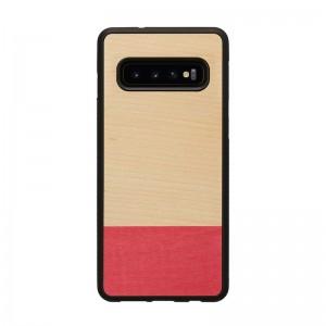 Galaxy S10 S10+ 天然木ケース Man&Wood Miss match(マンアンドウッド ミスマッチ) カバー木製