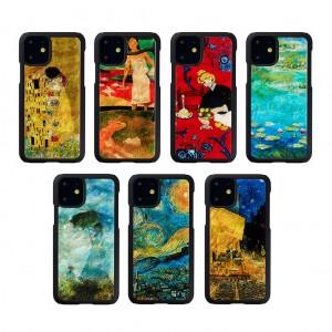 ikins iPhone 11 天然貝ケース名画