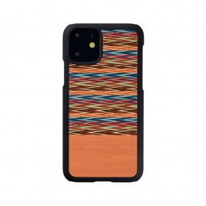 Man&Wood iPhone 11 天然木ケース Browny Check