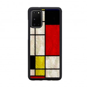 ikins Galaxy S20/S20+/S10/S10+/S9/S8 天然貝ケース Mondrian