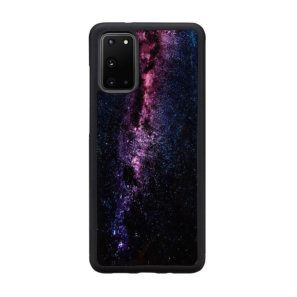 ikins Galaxy S20/S20+/S10/S10+/S9/S8/ 天然貝ケース Milky Way