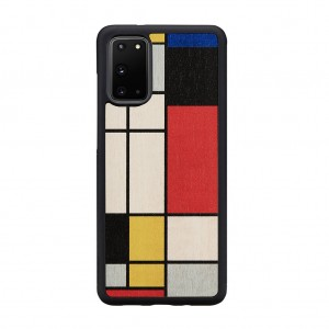 Man&Wood Galaxy S20/S20+ 天然木ケース Mondrian wood
