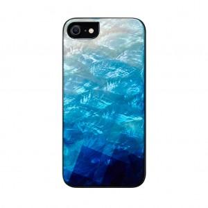 ikins 2020 iPhone SE/8/7 天然貝ケース Blue Lake