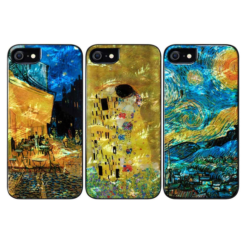 ikins 2020 iPhone SE/8/7 天然貝ケース 名画シリーズ