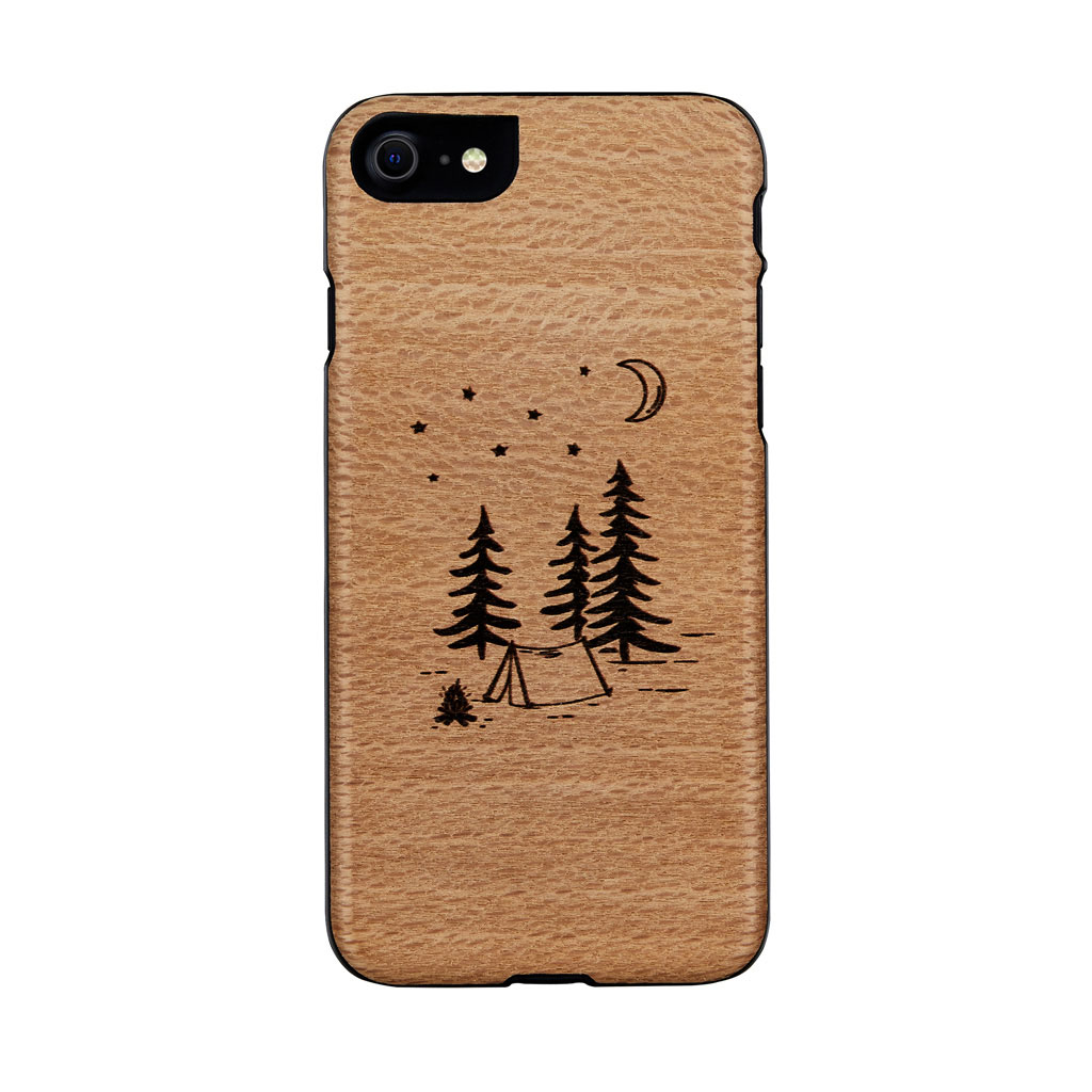 Man&Wood 2020 iPhone SE/8/7 天然木ケース camp