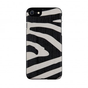 Man&Wood 2020 iPhone SE/8/7 天然木ケース Zebra